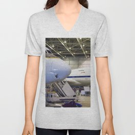 The cavernous expanse of the Dryden Aircraft Operations Facility in Palmdale Calif now houses NASAs Unisex V-Neck