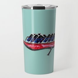 Flying shoes with cellphones for May - shoes stories Travel Mug