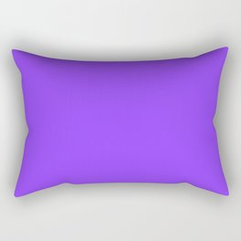 Simple Solid Color Aztech Purple All Over Print Rectangular Pillow