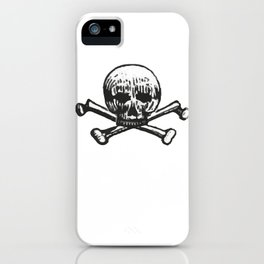Skull and bones iPhone Case