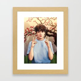 BTS JUNGKOOK SOFT Framed Art Print