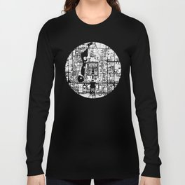 Beijing city map black and white Long Sleeve T-shirt
