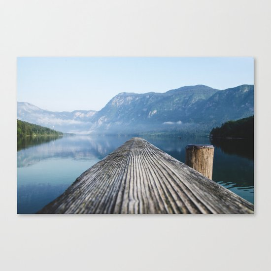 Dock # mountains #nature Canvas Print