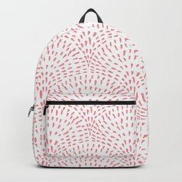 Sketched Line Art Clamshells in Pink Backpack
