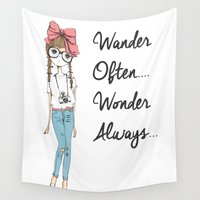 wander Wall Tapestries featuring Wander.. by Chetna Shetty