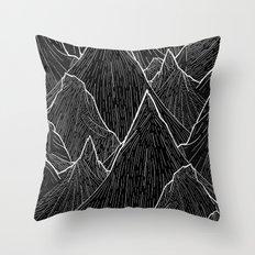 The Dark Peaks Throw Pillow