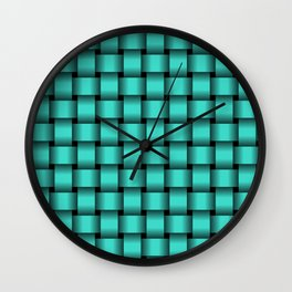 Turquoise Weave Wall Clock