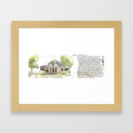 Monticello Framed Art Print