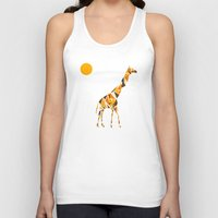 giraffe Tank Tops featuring Giraffe  by fly fly away