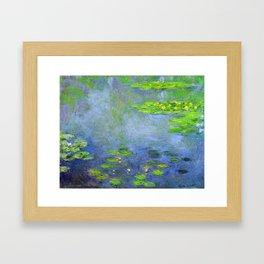 Water Lillies - Claude Monet (ufo green) Framed Art Print