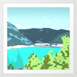 Calm panorama Art Print