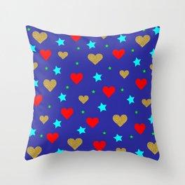 blue modern pattern Throw Pillow