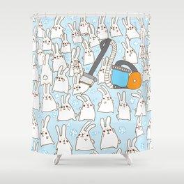 Dust bunnies Shower Curtain