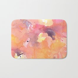Abstract Watercolor Colorful Painting Bath Mat