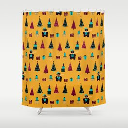 Polar Bears, Christmas Trees, and Presents! (Pattern) Shower Curtain