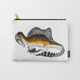 Spinosaurus mother and juvenile Carry-All Pouch