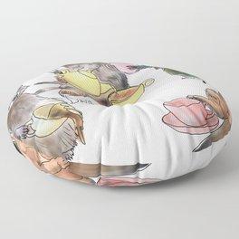 Racoon Tea Party Floor Pillow
