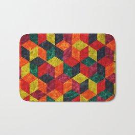 Colorful Isometric Cubes IV Bath Mat