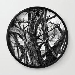 fallen tree roots Wall Clock