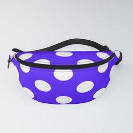 Ultramarine - blue - White Polka Dots - Pois Pattern Fanny Pack