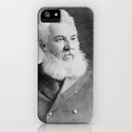 Alexander Graham Bell, the telephone inventor iPhone Case
