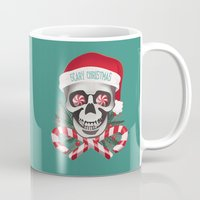 scary Mugs featuring Scary Christmas by JenHoney