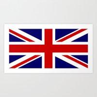 british flag Art Prints featuring British Union Flag by PICSL8