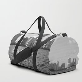 I'm in Miami - Black and white Duffle Bag