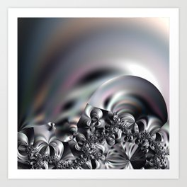 Complexity under smooth simplicity - Abstract play with focus Art Print