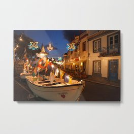 Decorated fishing boats Metal Print