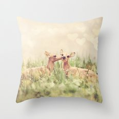 Let's Meet in the Middle Throw Pillow
