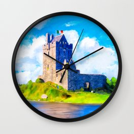 Dunguaire Castle On Galway Bay In Ireland Wall Clock