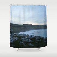 new zealand Shower Curtains featuring New Zealand by Tasha Jo