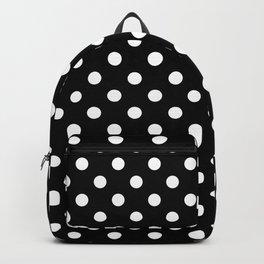 Polka Dot Black And White Backpack