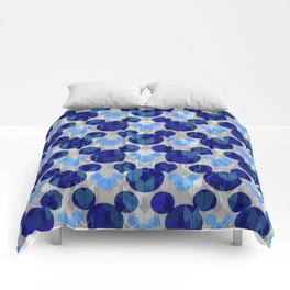 Mickey Arrows in Blue and Gray Comforters
