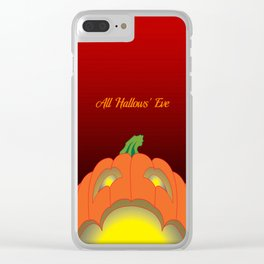 Jack O' Lantern Surprise Clear iPhone Case