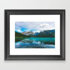 The Mountains and Blue Water Framed Art Print