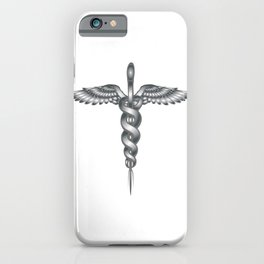 Caduceus Medical Symbol iPhone Case