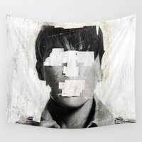 number Wall Tapestries featuring Faceless | number 02 by FAMOUS WHEN DEAD