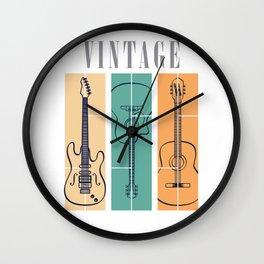Guitar Vintage Wall Clock