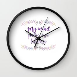 """""""My Mind Palace is a Library"""" Art Print Wall Clock"""