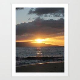 MAKENA BEACH SUNSET 2 Art Print