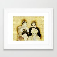marx Framed Art Prints featuring MARX BROTHERS - 004 by Lazy Bones Studios