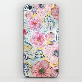 Watercolor hand paint floral design iPhone Skin