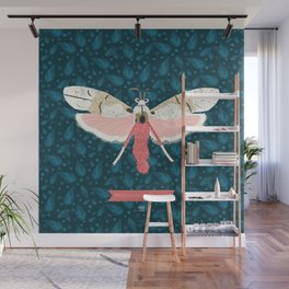Pink Butterfly Wall Mural