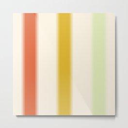 70's Gradient Stripes Metal Print