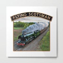 Flying Scotsman and Nameplate Metal Print