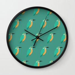 Colorful kingfishers Wall Clock