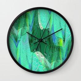 Seafoam Green Abstract 2 Wall Clock