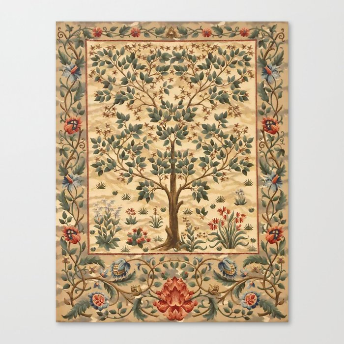 "William Morris ""Tree of life"" 3. Leinwanddruck"